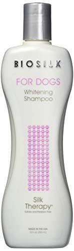 BioSilk for Dogs Silk Therapy Whitening Shampoo | Best Dog Whitening Shampoo, 12 oz, Pack of 2
