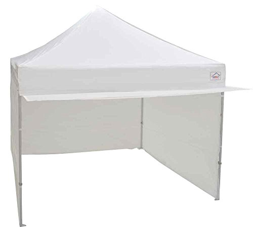 Impact Canopy 10x10 EZ Pop up Canopy Tent Instant Shelter Commercial Portable Market Canopy with Matching Sidewalls, Weight Bags, Roller Bag (White)