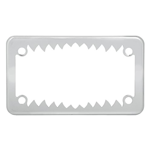 Grand General 60392 Chrome Shark Teeth Motorcycle License Plate Frame by Grand General