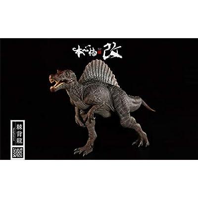 Nanmu Studio 1/35 Scale Spinosaurus Figure Supplanter Spino Statue Jurassic Realistic Dinosaur Action Figure PVC Model Toys Dinos Collector Decor Gift for Adult (Original Version): Toys & Games