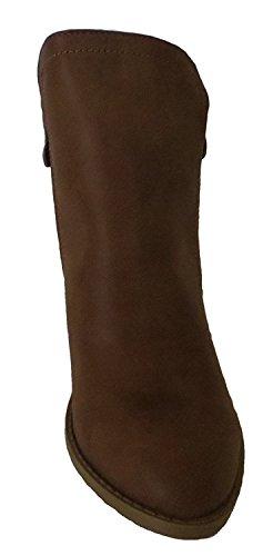 Women's Dave Booties Ankle 8 Side Tan Top Moda Zipper x6qw7wtO