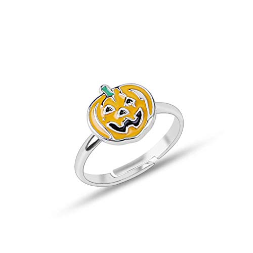 Potelin Creative Pumpkin Women Ring Jewelry Ring Adjustable yellow Durable and - Pumpkin Ring