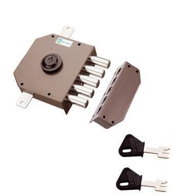 Cerradura de Seguridad Triple de Aplicar 30620 DX 60 Mottura: Amazon.es: Hogar