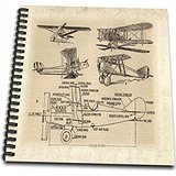 Early 1900s Photo (3dRose db_62138_1 Early 1900S Sketch of Airplanes Drawing Book, 8 by)