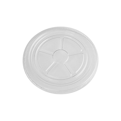 6/8 oz Ice Cream Cup Flat Lids, Clear Plastic Flat Lids Fit Our 6 oz and 8oz Cups Perfectly, Cups Sold Seperately