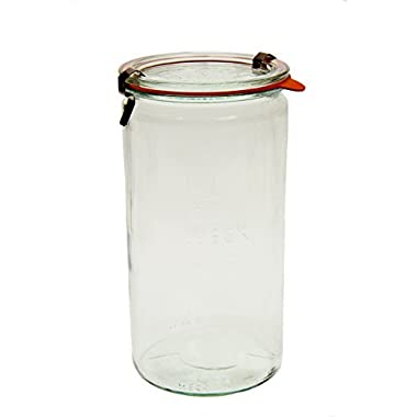 Weck 974 Cylindrical Jar - 1.5 Liter, Set of 4