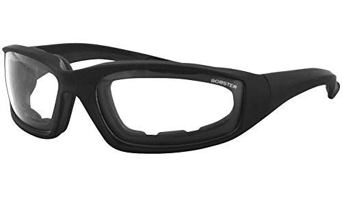 Bobster 1280480 Foamerz 2 Sport Sunglasses, Black Frame/Clear Lens