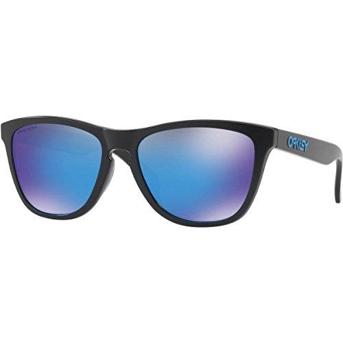 Oakley Men's Frogskins (a) Non-Polarized Iridium Rectangular Sunglasses, Matte Black, 54.02 - Frogskins Polarized Oakley