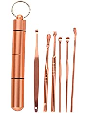 6 St Rvs Oordopjes Oor Cleaner Lepel Oorverzorging Reiniging Tool Oor Wax Removal Kit Oor Wax Remover Oor Wax Removal Tool