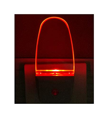 0.5W Plug in Light Sensor LED Red Night Light for Bedroom, Bathroom, Kitchen, Hallway 2 Pack