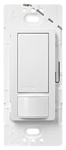 Lutron Maestro Motion Sensor Switch, No Neutral Required, 250 Watts, Single-Pole, MS-OPS2-SW, Snow