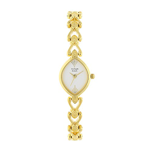 (Titan Women's Raga Gold Metal Jewellery, Bracelet Clasp, Quartz Glass, Water Resistant Analog Wrist Watch)