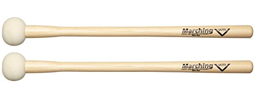 Vater MV-B2 Marching Bass Drum Mallets, Pair (MVB2)