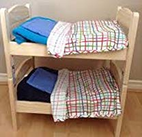 Miniature Bunk Bed for Cats/Dolls/Puppies or Small Dogs: Includes Pillow & Blanket with Each Bed (Double Bunk Bed) ()