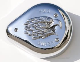 Eagle Air Cleaner Insert (High Polished Eagle S&S Air Cleaner Insert. Fits S&S Super E and G Air Cleaners.)