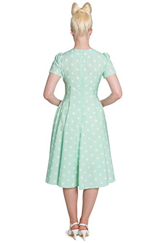 Kleid Mint Jahre Polka Dots Pin Up Rockabilly Madden 40er Hell Bunny retro twHP0Hq