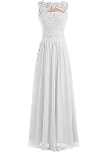 Gown Prom Long Lace Formal White Dress New Bride Chiffon Angel 2016 Evening Haw17qwA