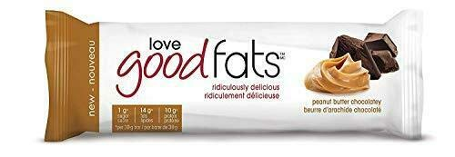 Love Good Fats, Snack Bars Peanut Butter Chocolatey, 1.38 Ounce, 4 Count