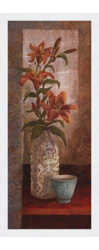 (Poster Palooza Framed Spiced Jewels I - Mini- 8x20 Inches - Art Print (Classic White Frame))