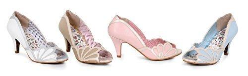Ellie Shoes 3 inch Metallic Detailing Peep Toe Heel (Pink;7) ()