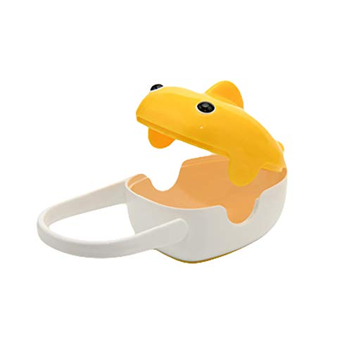eroute66 Pacifier Holder Storage Case Infant Soother Box Portable Whale Design Baby Care Yellow ()