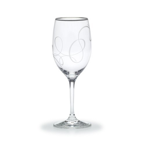 By Mikasa-Love Story Platinum Collection 11.75Oz Wine Glass