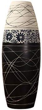 Ceramic Vase Floor Decoration – SM037 Black and White 20 60cm Living Room Hotel Modern Creative Dried Flower Arrangement Flower Decoration Jewelry
