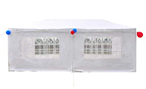 GOJOOASIS Canopy Tent Wedding Party Tent Outdoor Gazebo Sun shelter White (10' x 20' with 6 Walls)