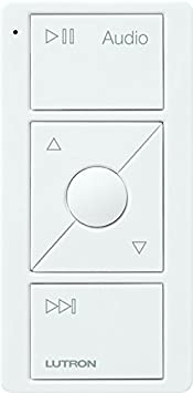 Lutron Caseta Wireless Pico Remote For Audio, Works With Sonos, Pj2 3 Brl Gwh A02, White by Lutron