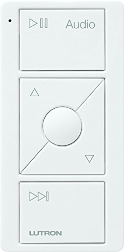 Lutron PJ2-3BRL-GWH-A02 Pico Remote Control for Audio, Sonos Endorsed Integration, White