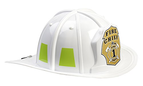 Aeromax Jr. Firefighter Helmet Toy, White, Adjustable