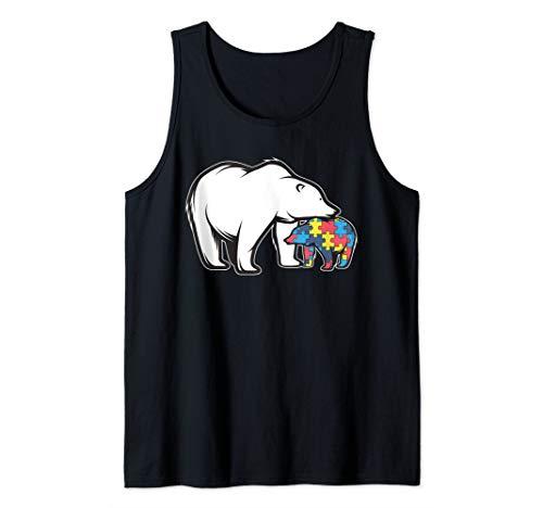 Autism Awareness Art | Polar Bear Puzzle Piece Gift Tee Tank - Piece Puzzle Tank