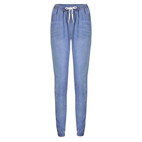 De Denim Mujer Tallas Casual Cortos Mujer EláStico Vaqueros Grandes MáS para Mujer De Lazo Jeans OtoñO Claro Pantalones Rawdah AdemáS Flojo Azul Tallas Grandes De q1vx65