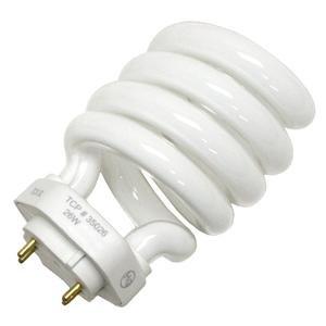 TCP 35026 CFL Spring Lamp - 100 Watt Equivalent (only 26W used!) Soft White (2700K) Spiral TCX Base Light Bulb