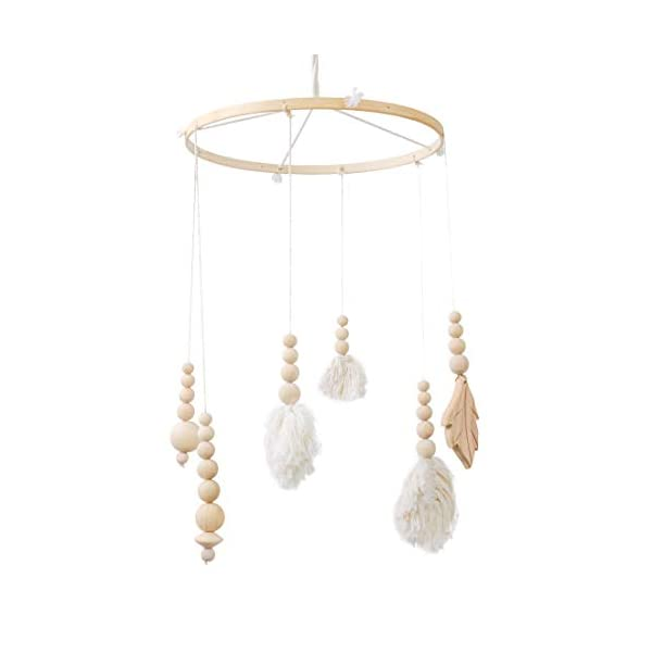Baby Mobile Nordic Style Wooden Crib Mobile Wind Chim Creative Wall Decorations Crib Tent/Room Ornament -Newborn Gift