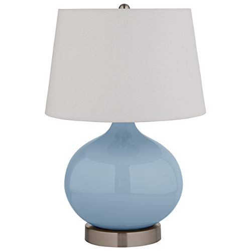 Stone & Beam Slate Blue Ceramic Lamp, 20