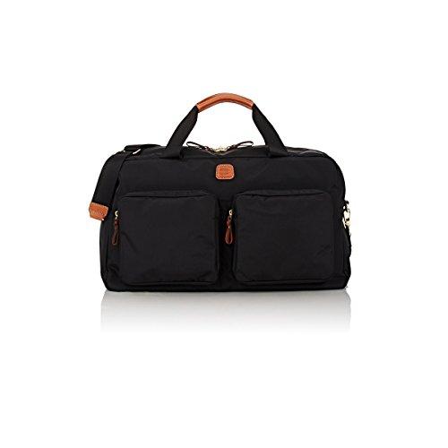 Bric's Luggage X Bag Boarding Duffel, Black/Cognac Trim by Bric's