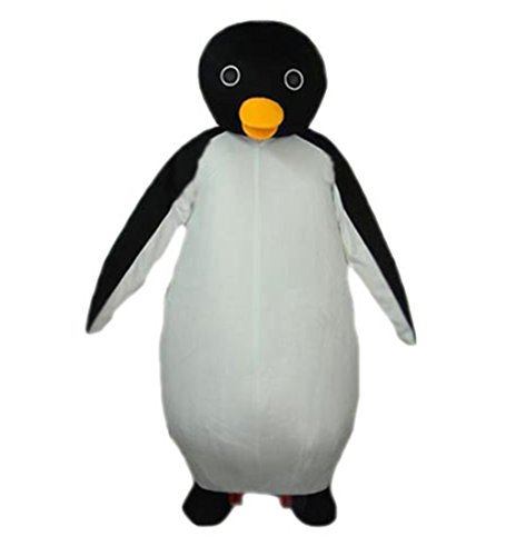 Penguin Mascot (MascotShows Big Belly Penguin Mascot Costume Adult Size Fancy Dress Suit)