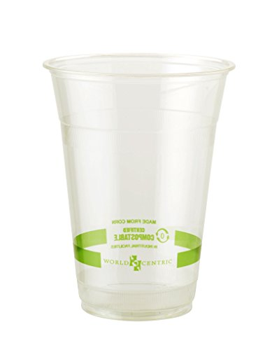 (World Centric CP-CS-16 100% Compostable Ingeo Cold Cups, 16 oz, Clear (Pack of 1000))