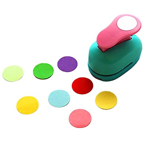 Multi-Colour dp Craft 5 cm Punch Circle