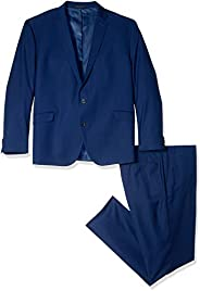 Kenneth Cole REACTION Mens Slim Fit Performance Suit in Extended Sizes Business Suit Pants Set