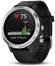 Garmin 010-01769-01 Vivoactive 3, GPS Smartwatch with Contactless Payments and Built-In Sports Apps, Black with Silver Hardware 3132I4iBQ7L