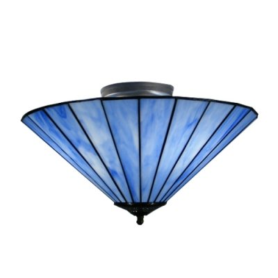 Amazon.com: Feiyan Fantastic Blue Glass Shade Tres luces ...
