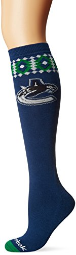 fan products of NHL Vancouver Canucks Women's SP17 Diamond Knee High Socks, Blue, One Size