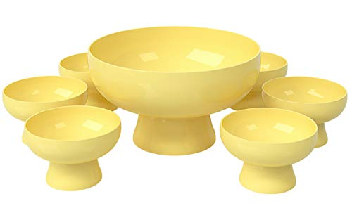 Coza- Unbreakable Set of 6 dessert bowls and 1 Serving Bowl for Cake, Dessert, Salad, Fruit- Set of -