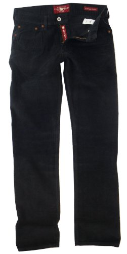 LUCKY BRAND BLUE 361 VINTAGE STRAIGHT FIT CORDUROY FLAT FRONT 5 PKT PANTS MEN (34x34) by Lucky Brand