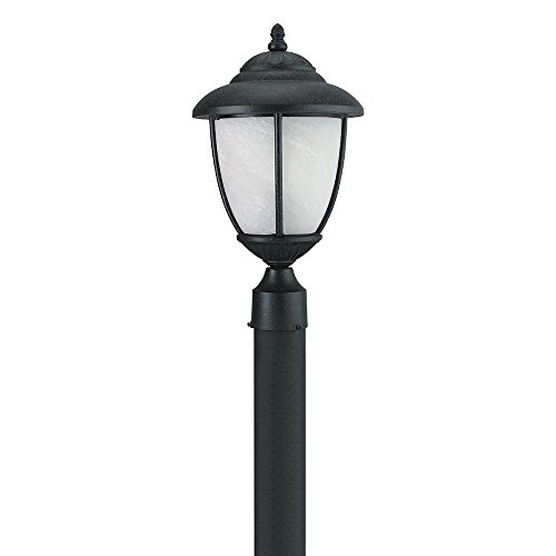 Sea Gull Lighting Yorktowne Collection (10D x 17.25H Inches) One-Light Outdoor Post Lanterns, Forged Iron Finish