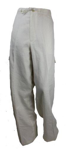 Liz Claiborne Linen Pants (Cream, L)