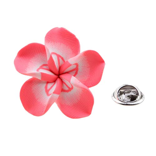 Fashion Bloom Glossy Flower Pin Brooch Women Men Party Wedding Bridal 13Styles (Color - Pink2) ()