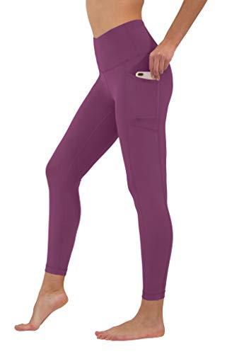 Yogalicious High Waist Ultra Soft Ankle Length Leggings with Pockets - Rasp Radiance - ()
